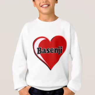 愛犬家のためのBasenjiのハート スウェットシャツ