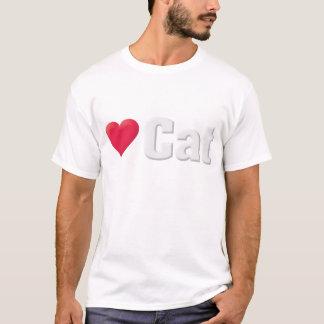 愛猫の白 Tシャツ