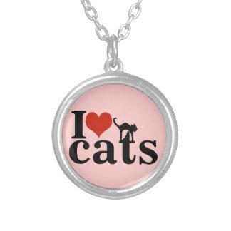 愛猫 シルバープレートネックレス
