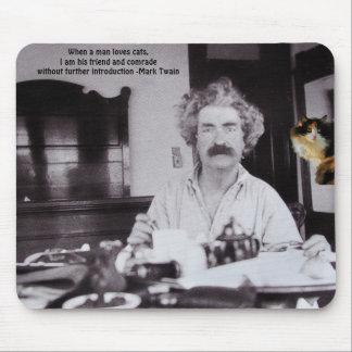 愛猫…私の友人マーク・トウェイン マウスパッド