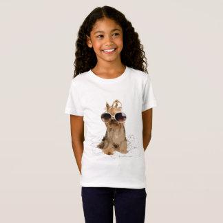愛玩用小犬のジャージーのおもしろいなTシャツ Tシャツ