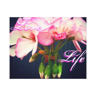 愛生命ゼラニウムのキャンバス キャンバスプリント