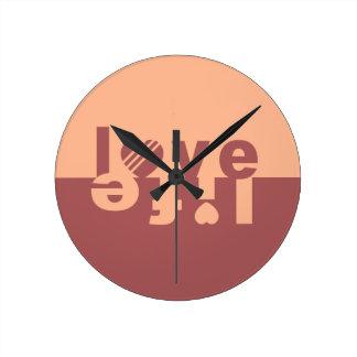愛生命柱時計 ラウンド壁時計