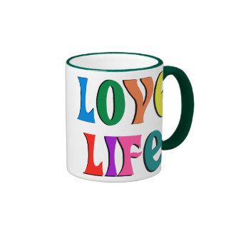 愛生命! カスタマイズ可能なキリスト教メッセージ リンガーマグカップ