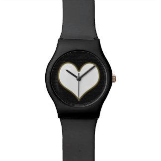 愛白のハート 腕時計