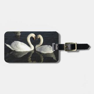 愛白鳥の荷物のラベル バッグタグ