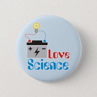愛科学ボタン 5.7CM 丸型バッジ