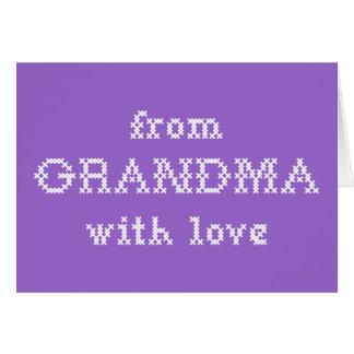 愛紫色の祖母から グリーティングカード