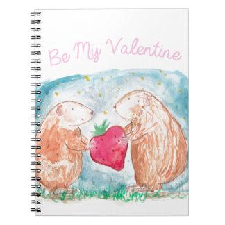 愛絵画の私のバレンタインのモルモットがあって下さい ノートブック