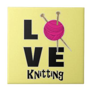 愛編み物のウールおよび針のノベルティ タイル