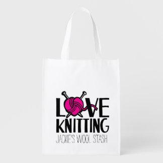 愛編み物のウールの隠匿物のバッグ エコバッグ