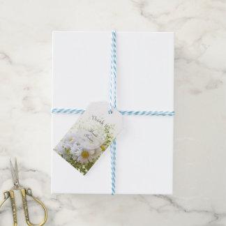 愛編集可能結婚式の花束のデイジー ギフトタグ