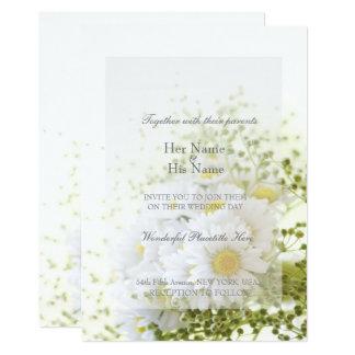 愛編集可能結婚式の花束のデイジー 12.7 X 17.8 インビテーションカード