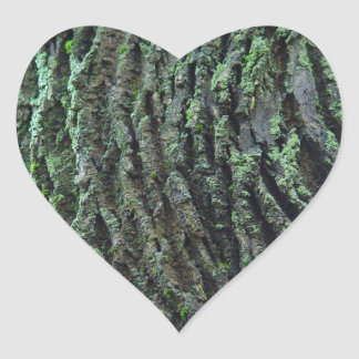 愛自然のステッカー-木のコケ ハートシール