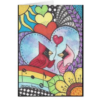 愛芸術の基本的な鳥 カード
