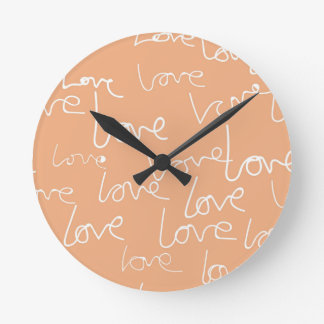 愛落書き ラウンド壁時計