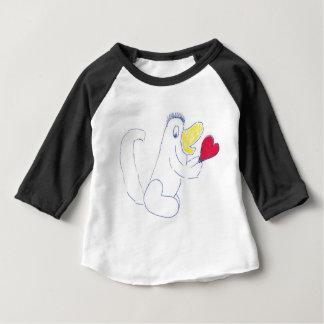 愛虫のアメリカの服装3/4の袖のRaglan T-Shir ベビーTシャツ