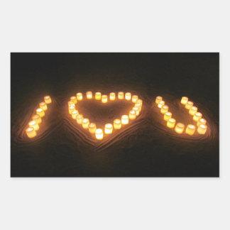 愛蝋燭 長方形シール