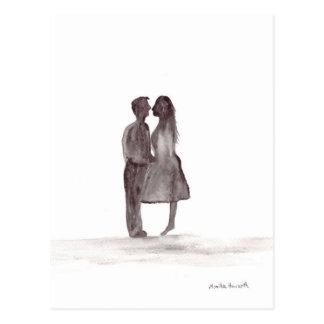 愛記念日の愛カップル ポストカード