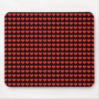 愛赤いハートパターン マウスパッド