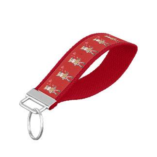 愛赤い手首のkeychainのSnowbell リストバンドキーホルダー