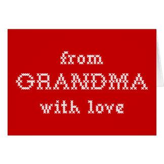 愛赤の祖母から グリーティングカード