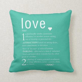 愛辞書定義バレンタインのタイポグラフィ クッション