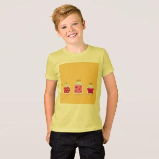 愛込み合いが付いている子供の黄色いTシャツ Tシャツ