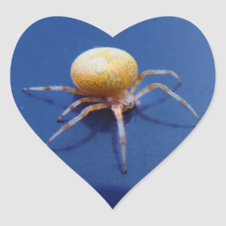 愛野性生物のステッカー-オレンジ球体の紡績工のくも ハートシール