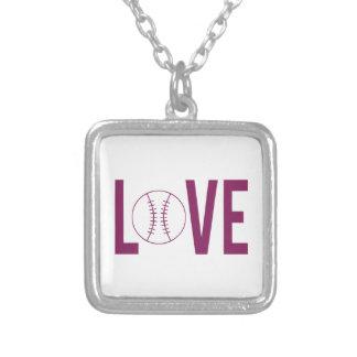愛野球のネックレス シルバープレートネックレス