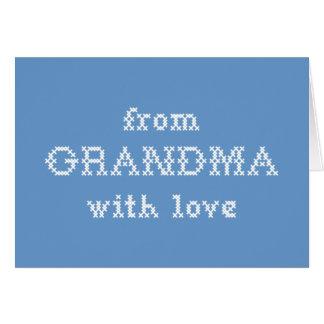愛青を持つ祖母から カード