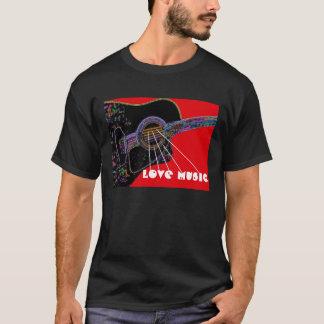 愛音楽サイケデリックなギターのTシャツ Tシャツ