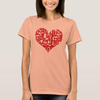 愛音楽楽器のTシャツ Tシャツ