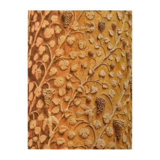 愛鳥およびブドウつる植物のヴィンテージの装飾的な芸術 ウッドウォールアート