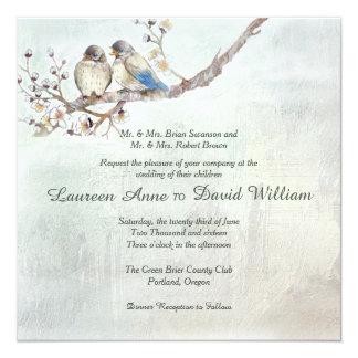 愛鳥のカスタムの結婚式招待状 カード