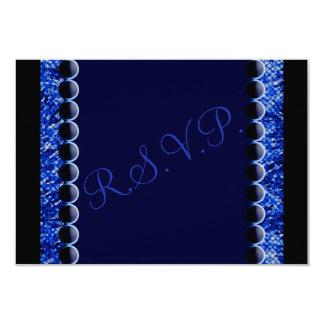 愛鳥のハート青い結婚RSVPのカード カード