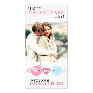 愛鳥の写真のバレンタインデー カード