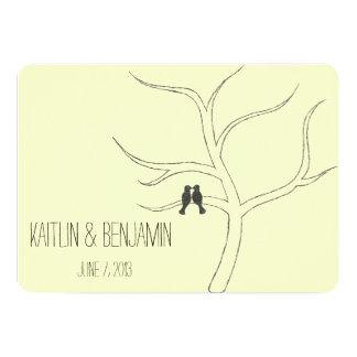 愛鳥の結婚式招待状 カード