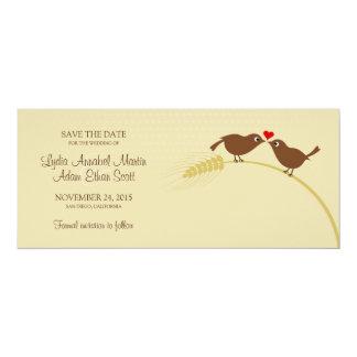 """愛鳥4"""" x 9.25""""結婚式の保存日付 10.2 x 23.5 インビテーションカード"""