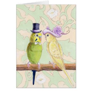 愛鳥-愛Budgiesの挨拶状 カード