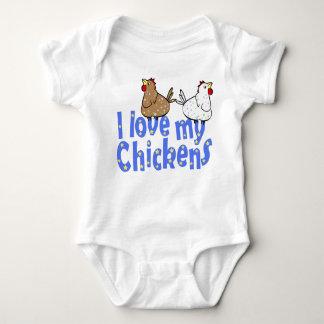 愛鶏のベビーのワイシャツ ベビーボディスーツ