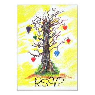 愛黄色Rsvpの木 カード