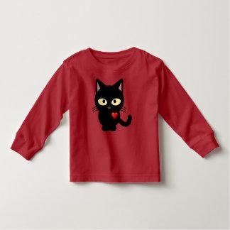 愛黒猫Tシャツ、幼児 トドラーTシャツ