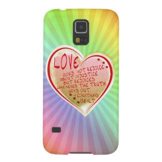 愛1 Corinthians 13: 6前に Galaxy S5 ケース