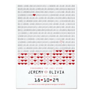 愛2進符号の保存のためにプログラムされるギーク日付 カード