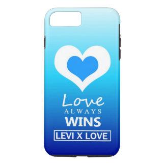 """""""愛""""は-リーバイズX愛に常に勝ちます iPhone 8 PLUS/7 PLUSケース"""