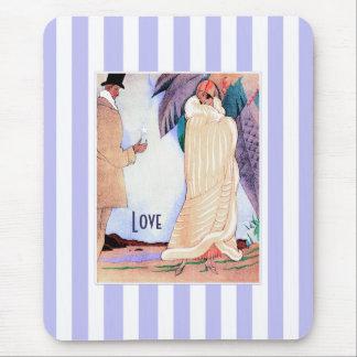 愛。 アールデコのバレンタインデーのギフトのマウスパッド マウスパッド