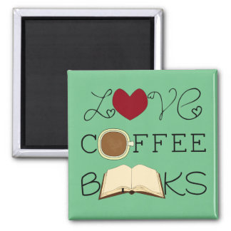 愛、コーヒー、本-色を選んで下さい マグネット