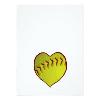 愛|ソフトボール 14 X 19.1 インビテーションカード