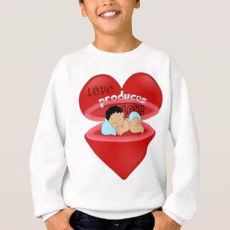 愛、ハート、愛の表現 スウェットシャツ